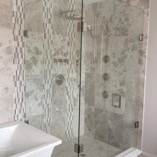 Custom Glass and Tile Shower