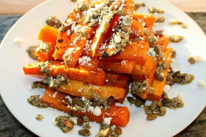 Roasted Butternut Squash & Pumpkin Pesto - Free Recipe