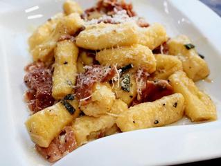 Pasta with Mushroom-Sage Olive Oil Fried Sage Leaves and Pecorino