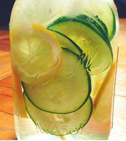 Lemon Cucumber Grapefruit Shrub