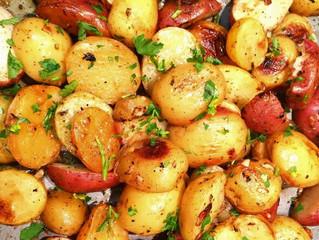 Olive Oil Roasted Lemon Garlic Potatoes