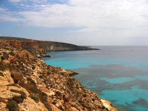 Cala Tabaccara, Lampedusa, isole Pelagie