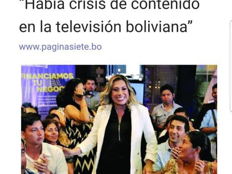 """""""Había crisis de contenido en la televisión boliviana"""""""