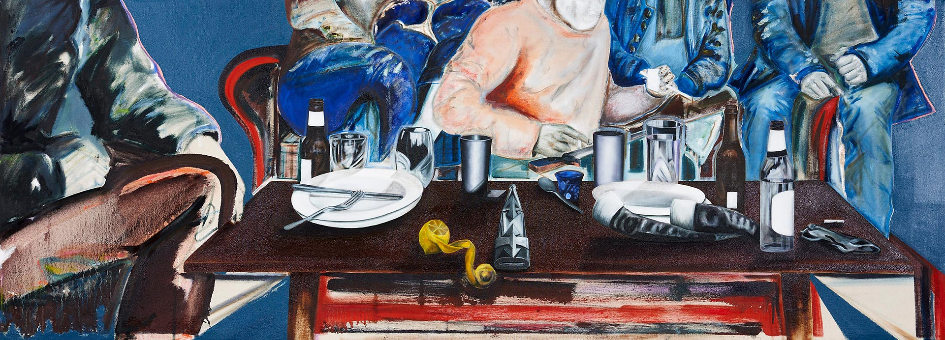 Il Cenacolo, 67 x 182 cm, Oil on Canvas, 2018