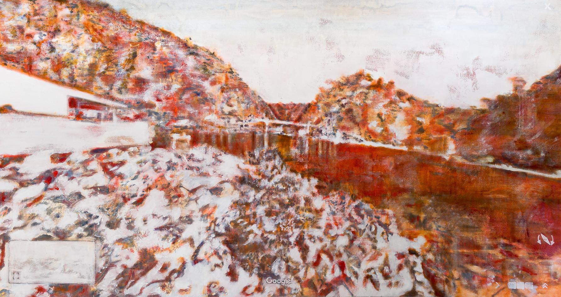 Google It, 80 x 190 cm, Oil & Acrylic on Canvas, 2020