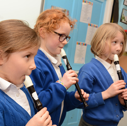 Class 2 have learnt to play the recorder