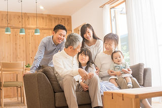 温かみを感じる家族