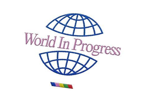 World In Progress Embroidery White