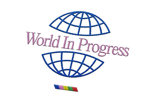 World In Progress Embroidered Tee - White