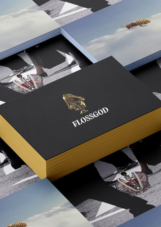 Visual identity for Flossgod Jewellery.
