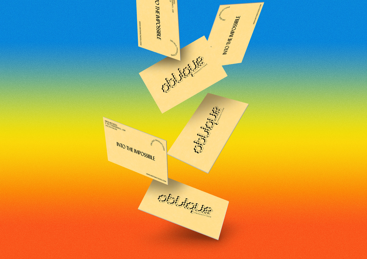 Oblique Productions Identity & Business Cards