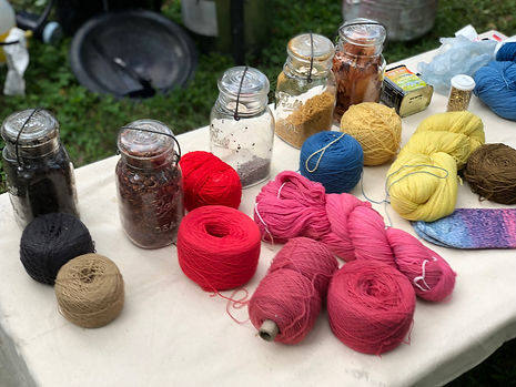 Yarn and Natural Dyes