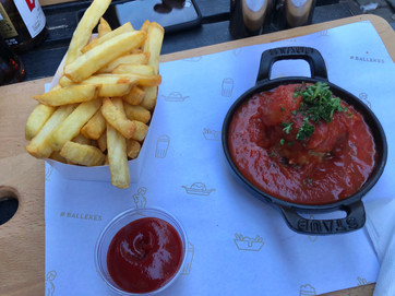 Belgian meatball and fries