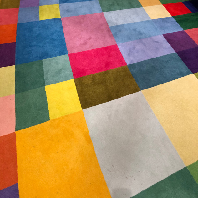 Colorful carpet in EU Conference Room