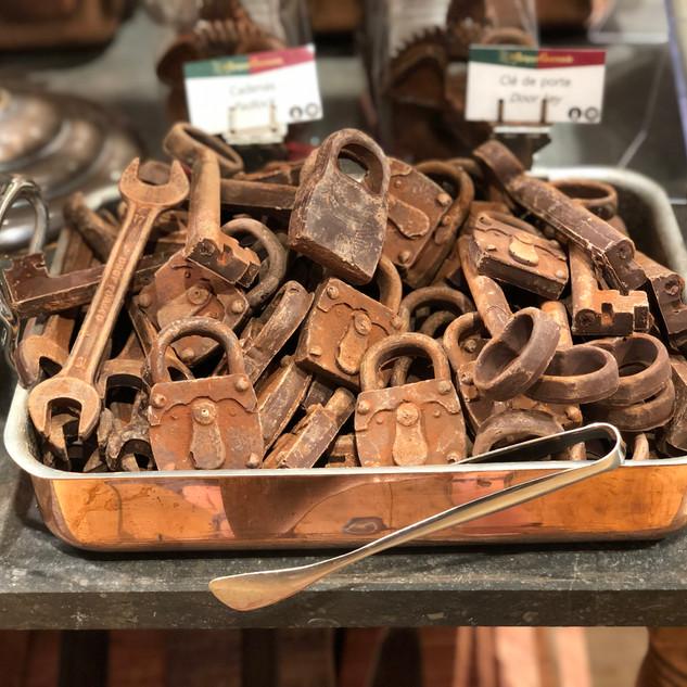 chocolate locks and tools
