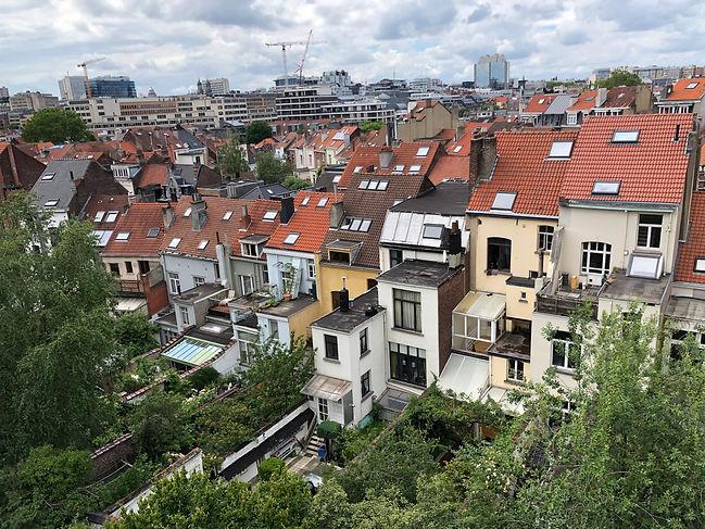 Row Houses in Bruses, Belgium