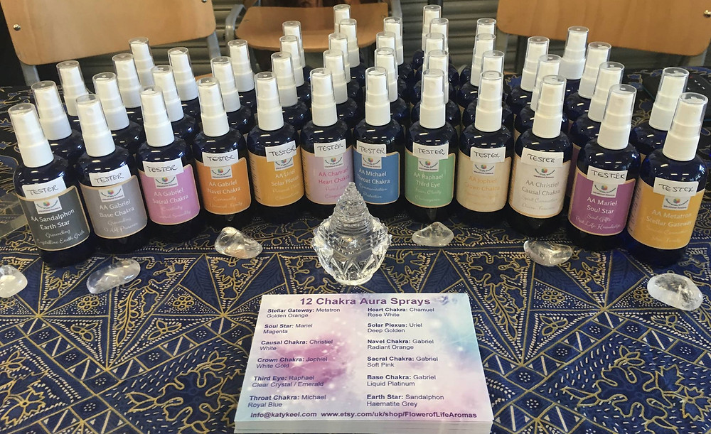 12 Chakra Aura Sprays by Flower of Life Aromatics