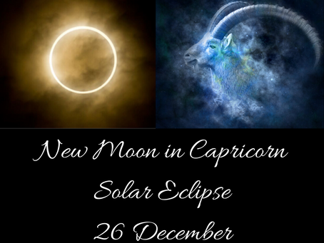 New Moon in Capricorn Solar Eclipse 26 December - Set your Foundations