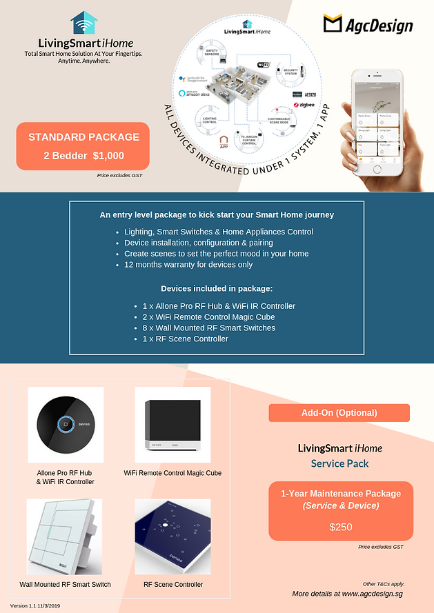 LivingSmart iHome Packages.png