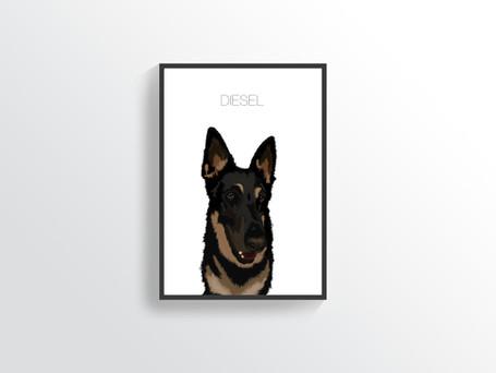 Digital Dog Illustrations