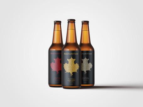 Black Scarlet Farms Bottle Design