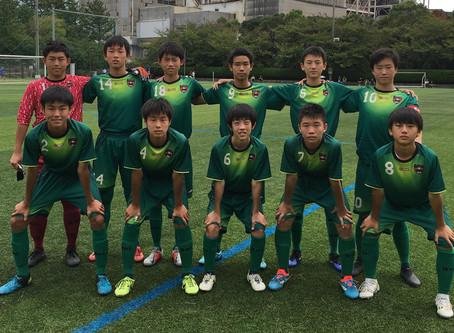 ジュニアユース〜高円宮杯U-15リーグ・明和中学校戦の結果