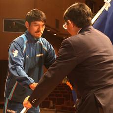 福井国体 大北主将が県選手団の旗手を務めることになりました