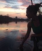 Sunset on the water Cambodia 2.JPG