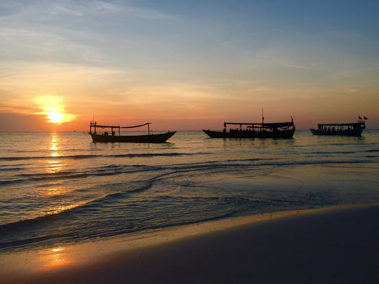 Koh Rong, Cambodia at sunset.JPG