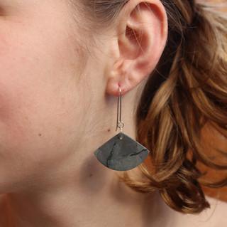 Earrings, NZ Argillite