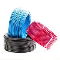 set colored electric cable on white back