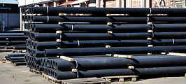 Plastic pipes in stock of finished produ