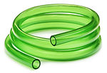 Green Tubing isolated over white backgro