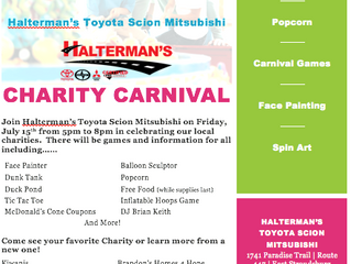 Halterman's Charity Carnival Event!!!