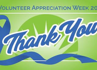 Volunteer Appreciation Week-Thank You!!