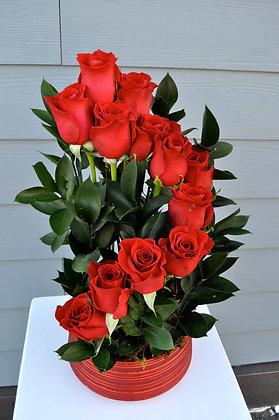 Red Rose Garden Arrangement