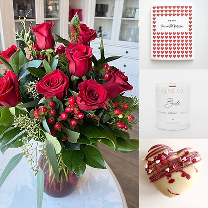 Romantic Valentine's: Red Rose Gift Set