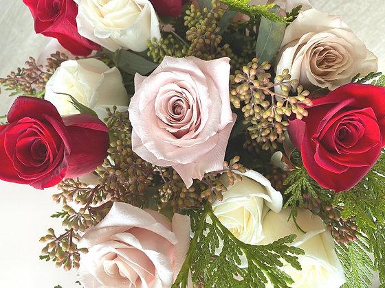 Valentine's Roses: Soft Romantic Mix. Designer's Choice|