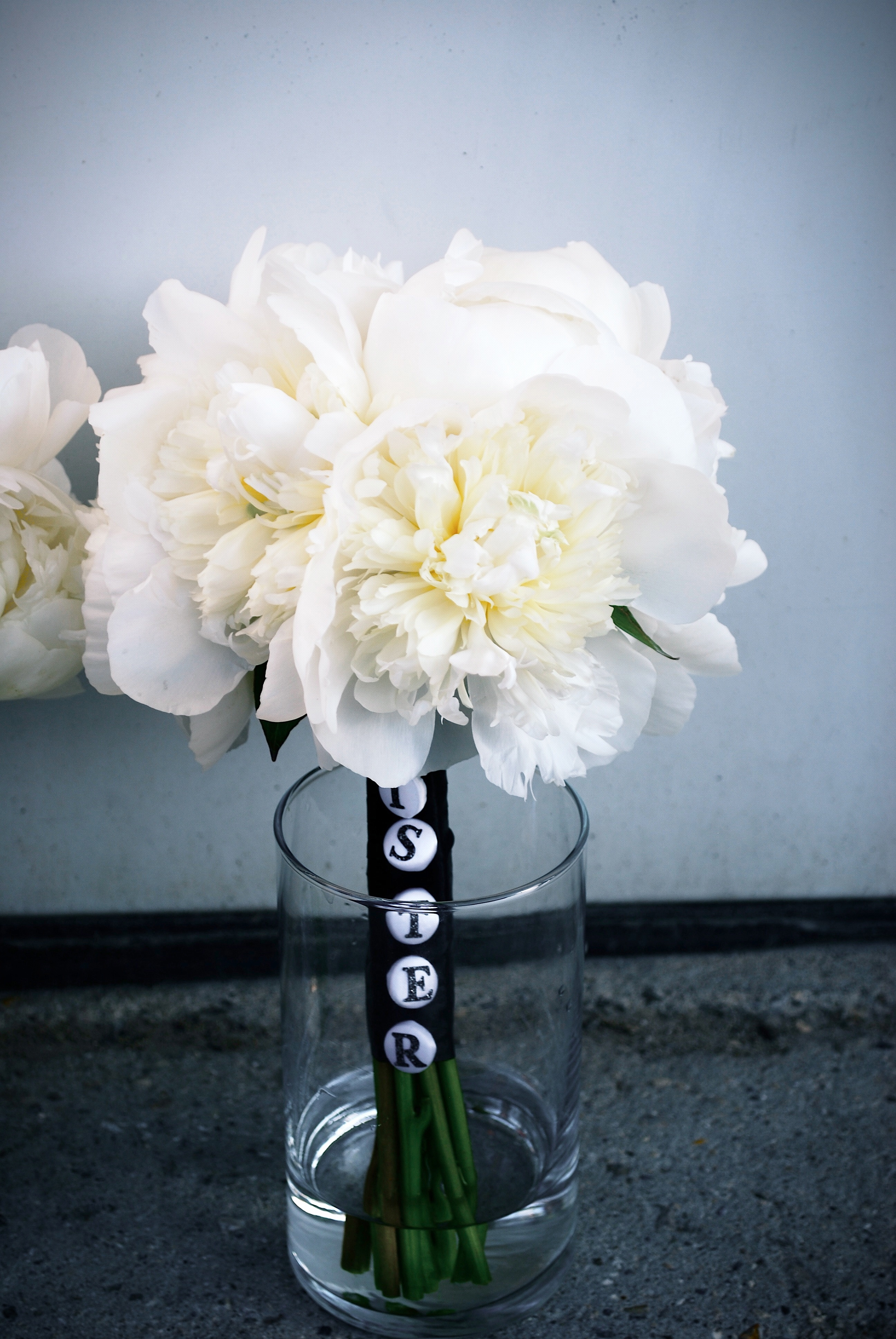 White Peony Bridesmaids Bouquet