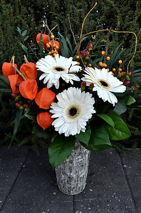 White & Orange Natural Arrangement