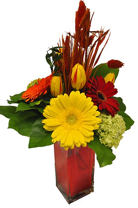 Gerbera & Wheat Arrangement