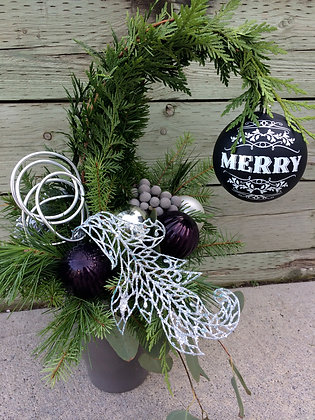 Black & Silver Grinch Tree