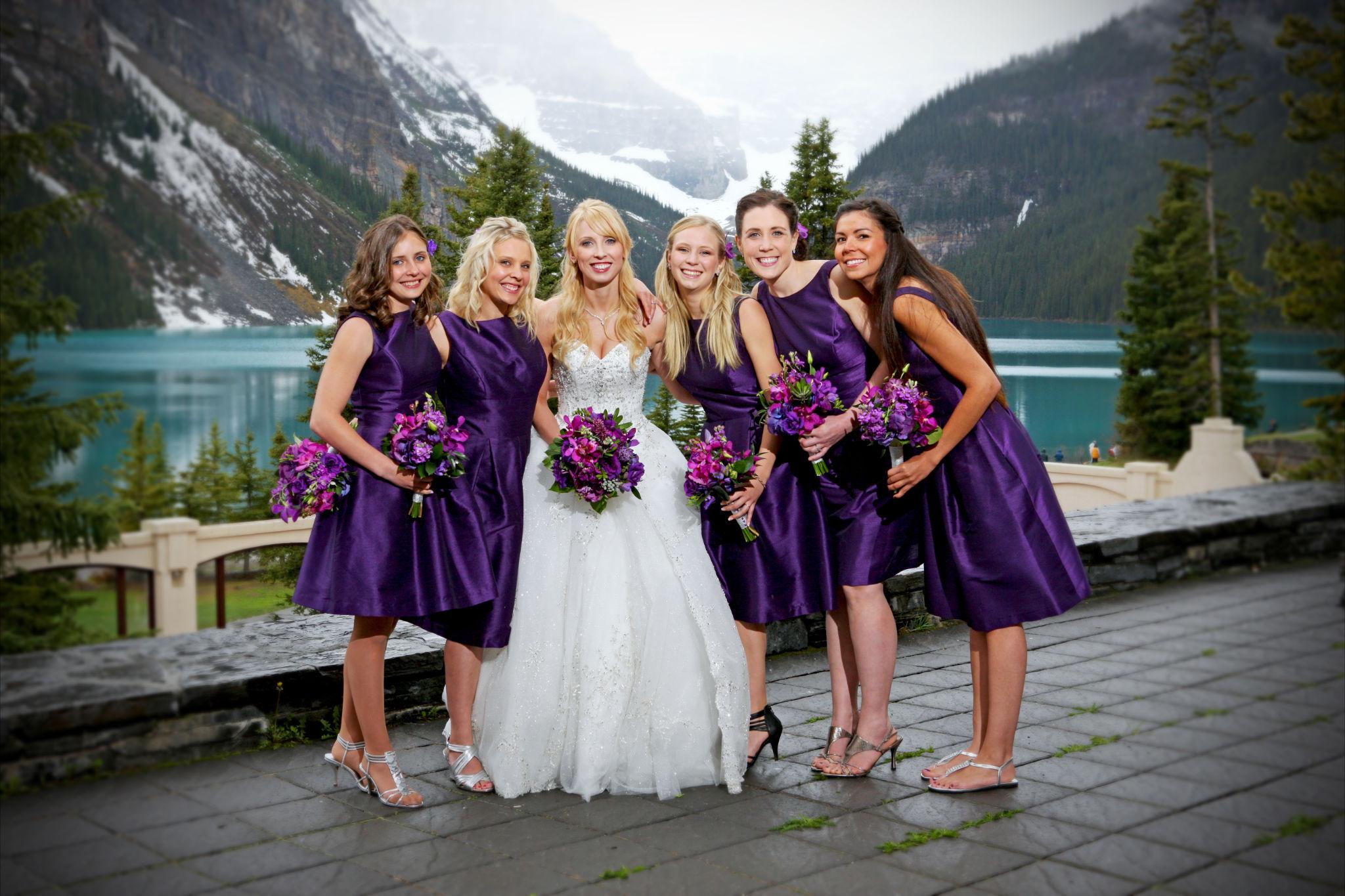 Purple Orchid Wedding 1