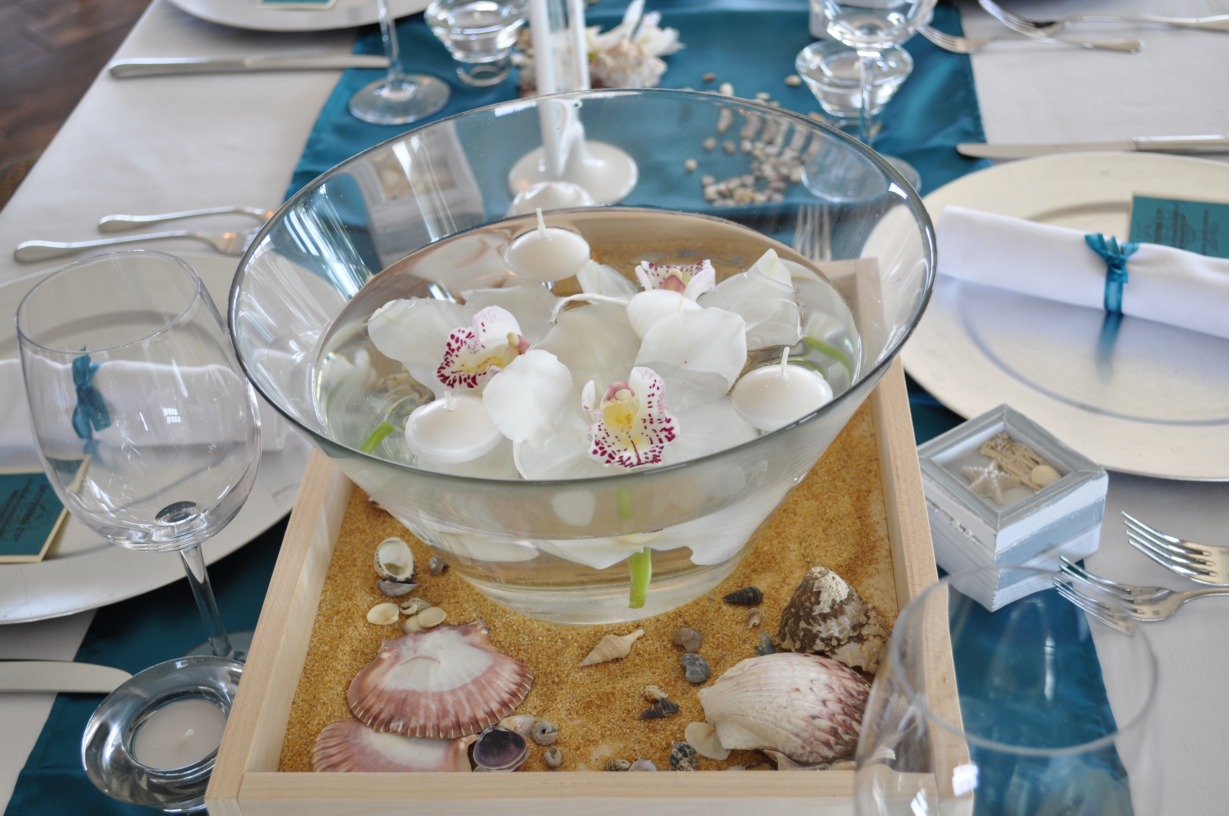 Orchid Beach Centerpiece