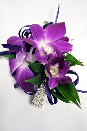 Purple Orchid Glam Wrist Corsage
