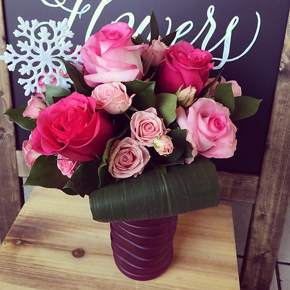 Winter Pink Roses