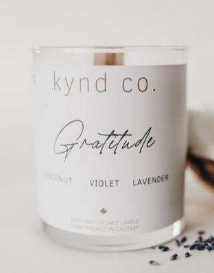 Gratitude- Luxury Soy Coconut Candle 10oz
