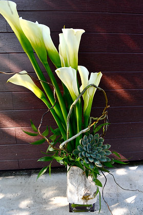 Natural Calla Lily Arrangement
