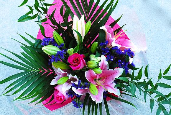 Pink & Purple Stargazer Bouquet