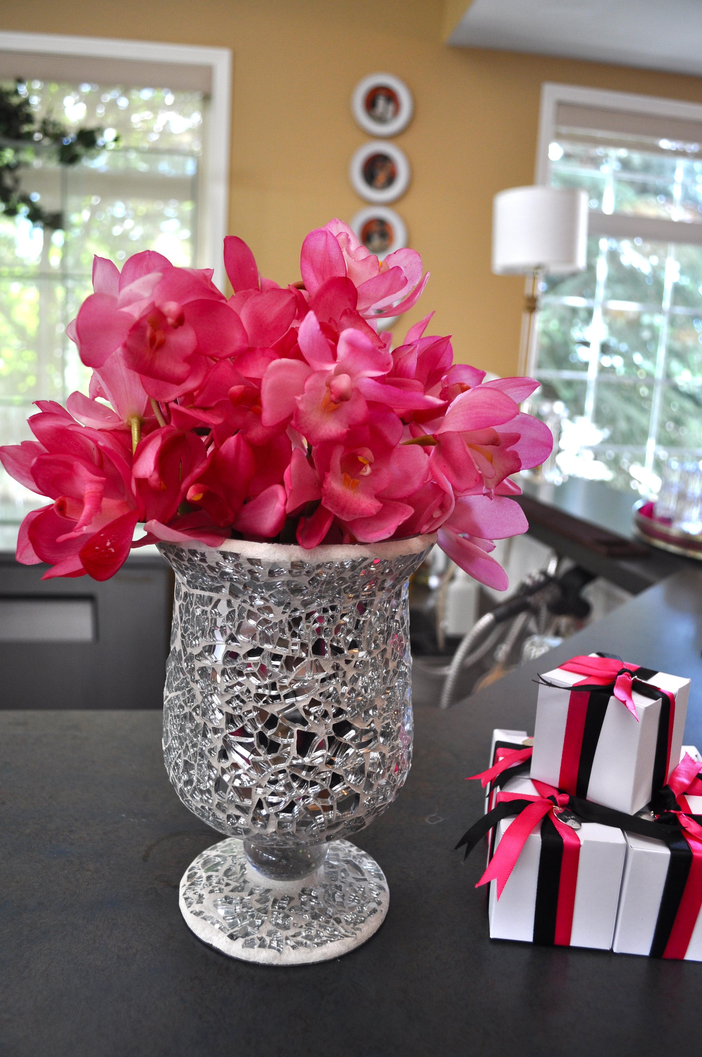 Hot Pink Orchid Arrangement